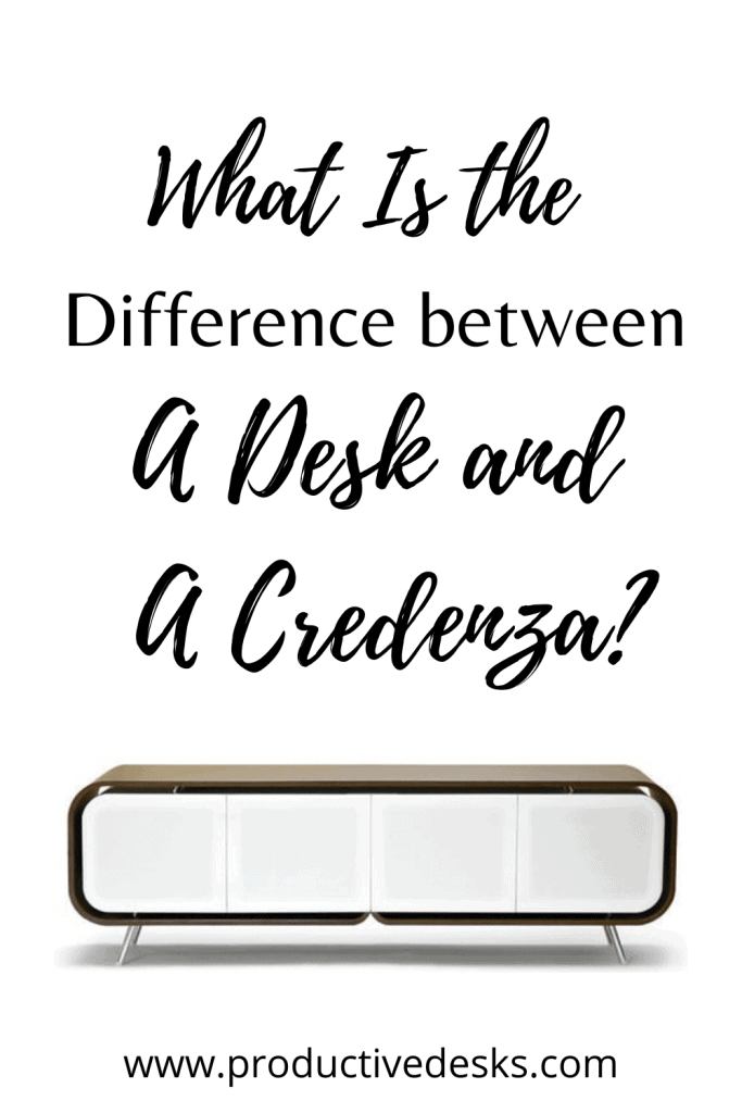 What Is The Difference Between a desk and a credenza